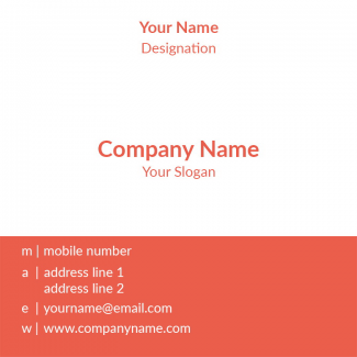 Yoga Trainer Square Business Card