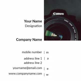 Photgrapher Square Business Card