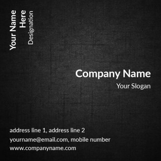 Software Company Square Business Card