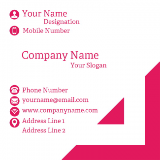 Engineer Square Business Card