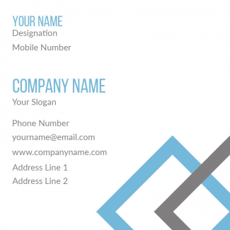 Accountant Square Business Card
