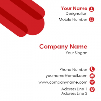 Professional Square Business Card