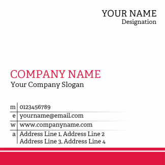 Doctor Square Business Card