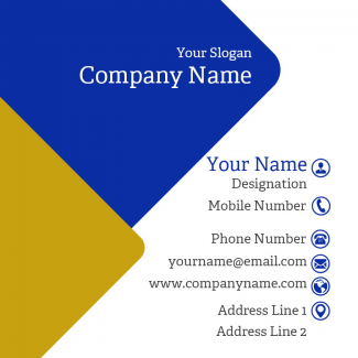 Electrician Square Business Card