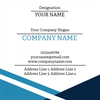 Blue Square Business Card