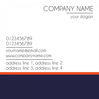 Normal Square Business Card