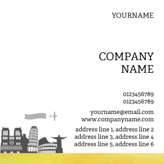 Travel Square Business Card