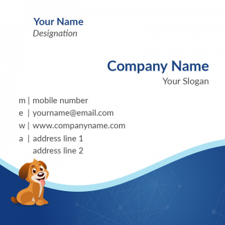 Pet Clinic Square Business Card