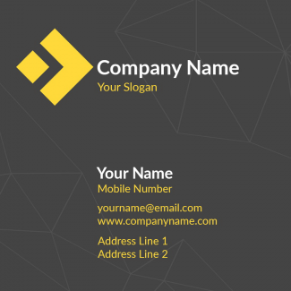 Web Square Business Card