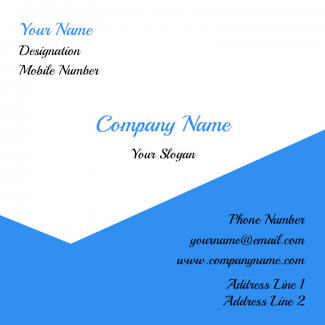 Proffessional Square Business Card