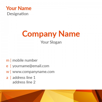 Artist Square Business Card