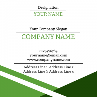 Green Square Business Card