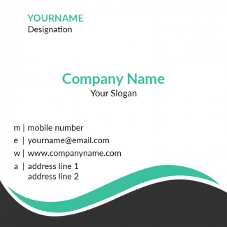 Pattern Square Business Card