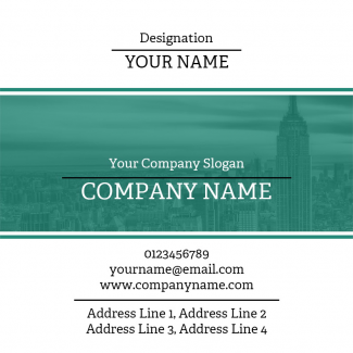 Architect Square Business Card