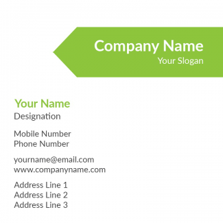 Parrot Green Square Business Card