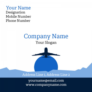Travel Agency Square Business Card