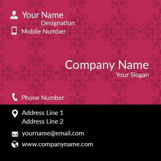 Garment Square Business Card