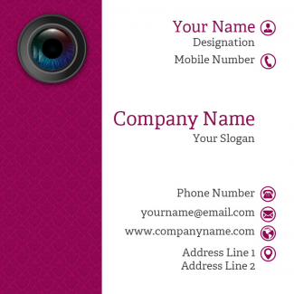 Photographer  Square Business Card