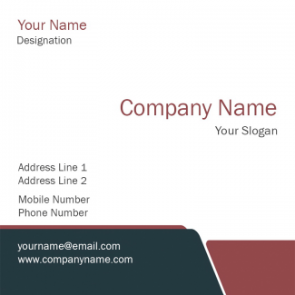 Business Square Business Card