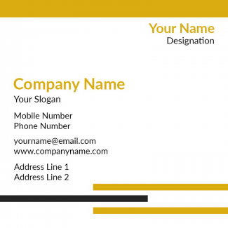 Library Square Business Card