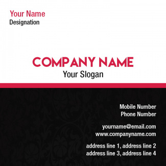 Textiles Square Business Card