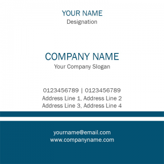 Blue and White Square Business Card