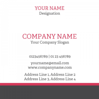 Custom Square Business Card