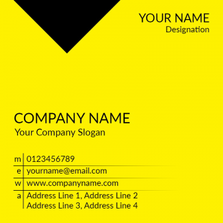 Yellow Square Business Card