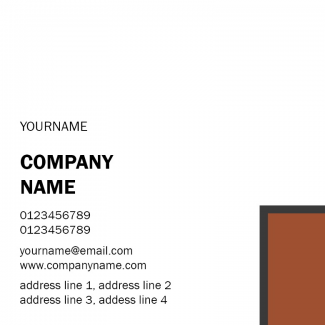 Personaized Square Business Card