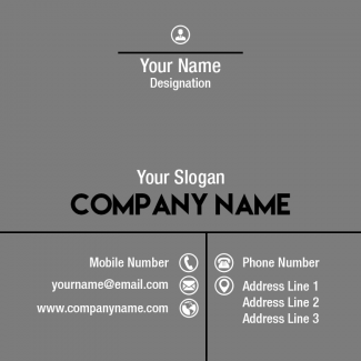 Grey Square Business Card