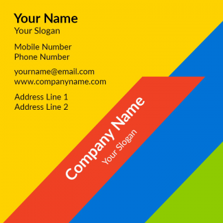 Colorful Square Business Card