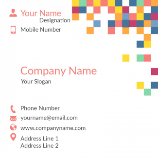 Coloful Pattern Square Business Card