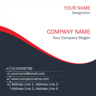 Floral Square Business Card