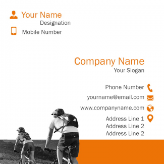 Bicycle Shop Square Business Card