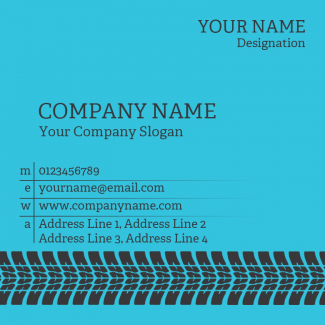 Tyre Dealers Square Business Card