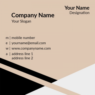 Contractor Square Business Card