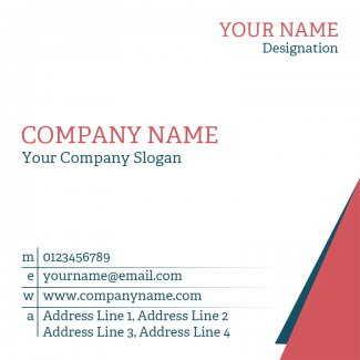 Builder Square Business Card
