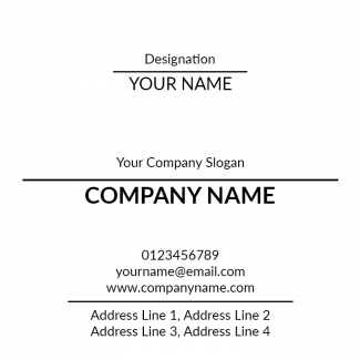 Elegant Square Business Card