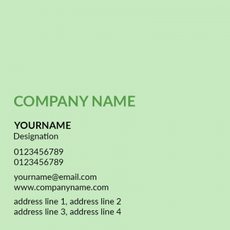 Light Green Square Business Card