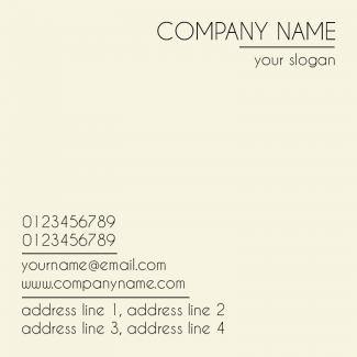 Creamish Square Business Card