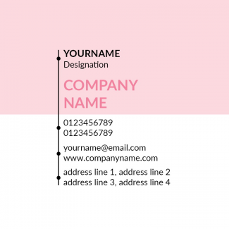 Light Pink Square Business Card
