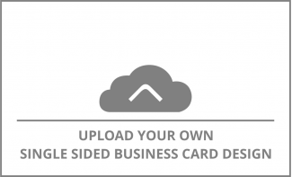 Horizontal Single Sided Business Card Upload