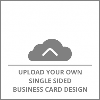 Square Single Sided Business Card Upload