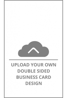 Vertical Double Sided Business Card Upload