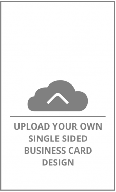 Vertical Single Sided Business Card Upload