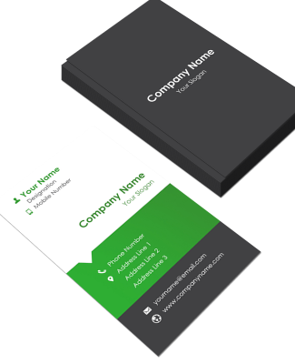 Management Vertical Business Card