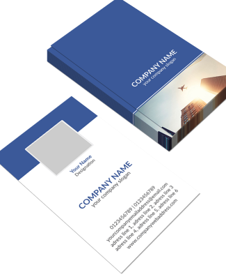 IT Company  Vertical Business Card