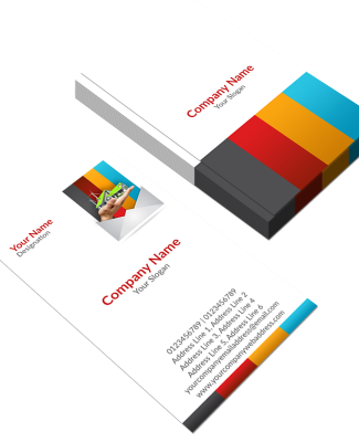 Construction Company  Vertical Business Card