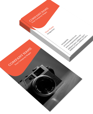 Photography Vertical Business Card