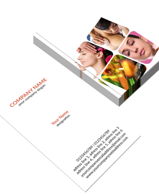 Beauty Spa Vertical Business Card